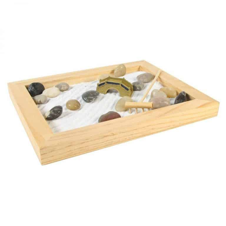 #19023 Large Wood Zen Garden Natural Rectangular