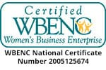 Certified WBENC Company